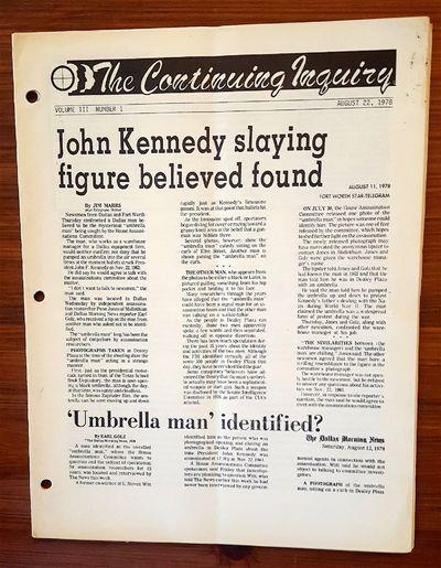 Midlothian & Waxahachie, TX: Penn Jones Publications, 1978. Vol. 3 No. 1. Staplebound. Very Good. Or...