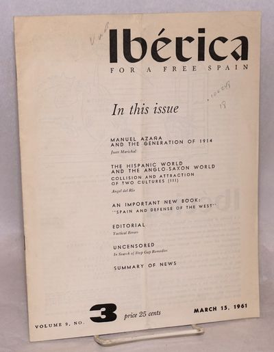 New York: Iberica Publishing Co, 1961. 16p., 8x11 inches, wraps creased and slightly worn, front wra...