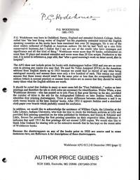 P.G. Wodehouse  (Author Price Guides Series)