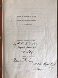 Signed Copy of His Commissioned Report on the 1934 Textile Industry Crisis by  FRANKLIN D ROOSEVELT - Signed - from Lion Heart Autographs Inc (SKU: 21136)