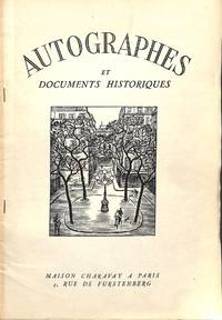 Bulletin Supplémentaire no.17/1956 : Autographes et Documents Historiques by CHARAVAY - PARIS - from Frits Knuf Antiquarian Books (SKU: 78851)