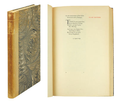 Small 4to. Newtown: The Gregnyog Press, 1930. Small 4to, xliii, 107, (1, colophon)pp. Wood engraved ...