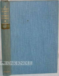 New York: Columbia University Press, 1933. cloth. Bridges, Robert. 8vo. cloth. xii, 215 pages. First...