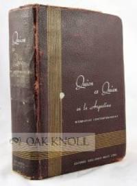 Buenos Aires: Editorial Guillermo Kraft Ltda, 1941. cloth. Argentina. 8vo. cloth. (vi), 679, (9) pag...