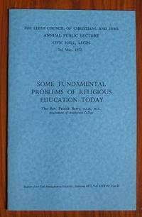 Some Fundamental Problems of Religious Education Today