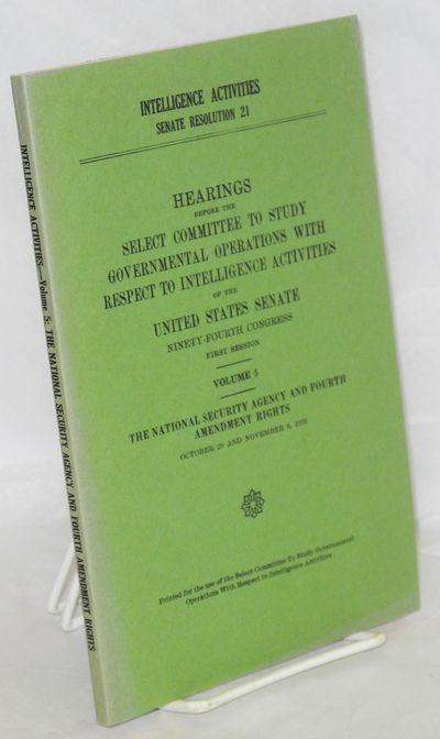 Washington, D. C.: GPO, 1976. iii, 165p., plain printed green Senate wraps, spine panel mildly sunne...