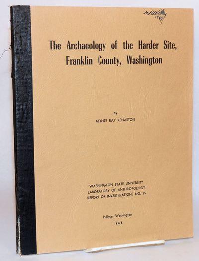 Pullman, WA: Washington State University, Laboratory of Anthropology, 1966. 138p., wraps, 8.25x10.75...