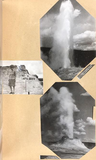 Good. Softcover. Scrapbook of a family trip through South Dakota, Montana, Wyoming, with most photog...