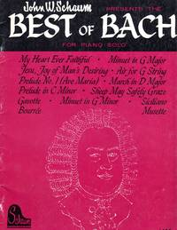 image of The Best of Bach - for Piano Solo [MUSIC SCORE]