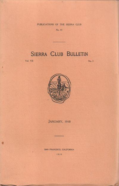 San Francisco, California: Sierra Club. Very Good. 1910. Softcover. Original buff wraps with black l...