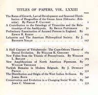 Proceedings of the American Philosophical Society Vol. XLLIII, Nos. 1, 2, 4, 5, 6