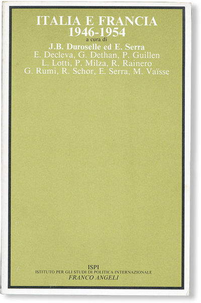 : Franco Angeli, . First Edition. Octavo (ca. 22cm.); publisher's card wrappers; 329pp. Light shelf ...