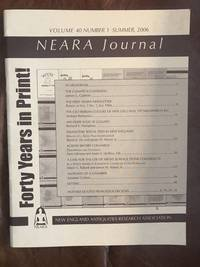 image of NEARA JOURNAL Volume 40 Number 1 Summer, 2006 Heliolithic Ritual Sites In New England