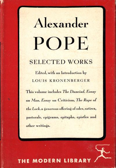 NY: Modern Library, 1951. Hardcover. Very good. Top edge of textblock foxed, else a very good hardba...