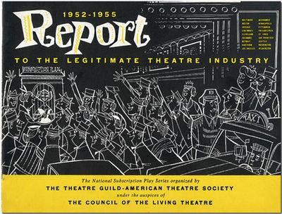 New York: Theatre Guild, et al., 1955. Oblong small quarto. Pictorial stiff wrappers. Numerous black...