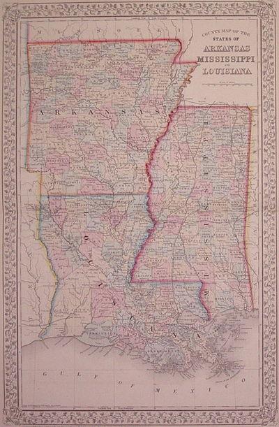 Philadelphia: Mitchell, Samuel Augustus Jr., 1867. unbound. very good(+). Gamble, W.H.. Map. Engravi...