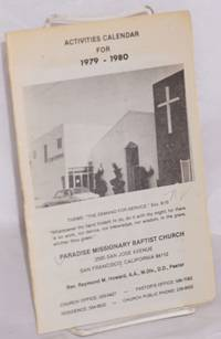 Activities calendar for 1979-1980: Rev. Raymond M. Howard, A.A., M.Div., D.D., Pastor