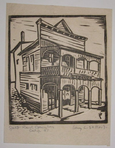 1951. unbound. very good(+). View. Uncolored woodblock print. Page measures 7