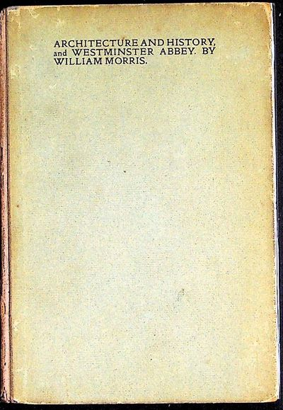 London: Chiswick for Longmans, 1900. Hardcover. Very Good. Hardcover. Two addresses by Morris about ...