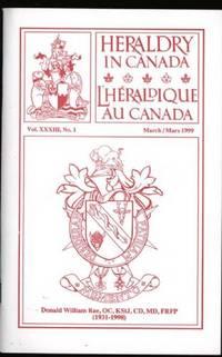 image of Heraldry in Canada / L'Héraldique Au Canada : Vol. XXXIII, No.1;  March 1999