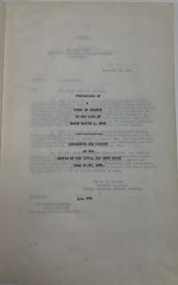 PROCEEDINGS OF A COURT OF INQUIRY IN THE CASE OF MAJOR MARCUS A. RENO CONCERNING HIS CONDUCT AT THE BATTLE OF THE LITTLE BIG HORN RIVER, JUNE 25-26, 1876.
