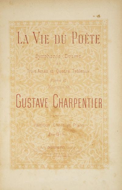 Paris: Choudens Fils , 1892. Large octavo. Quarter grey cloth with marbled boards, manuscript titlin...