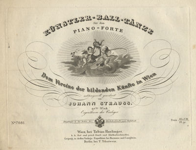 Wien: Tobias Haslinger T.H. 7081, 1837. Oblong folio. Unbound as issued. 11 pp. Engraved. With decor...