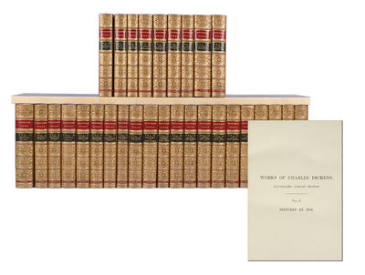 London: Chapman and Hall, 1891. Reprint of the Illustrated Library Edition. Thirty octavo volumes ( ...