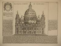 Basilica S. Petri in Vaticano (Basilica of St Peter in the Vatican, Rome/Basilica Papale di San Pietro in Vaticano, Roma): Original Engraving by Domenico De Rossi (after Giacomo Lauro). Plate 25 from Collectio Antiquitatum Urbis : Una Cum Alijs Recentioribus