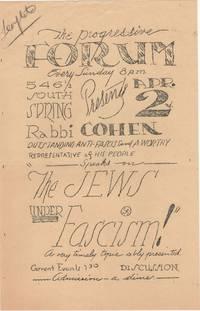 The Jews Under Fascism