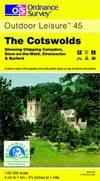 image of The Cotswolds (OS Explorer Map Active)