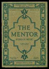 image of THE MENTOR - RUSSIAN MUSIC - November 1 1916 - Serial Number 118 - Volume 4, number 18