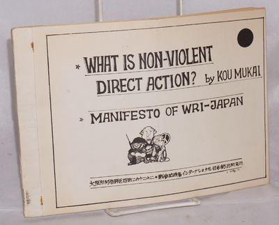 Osaka: War Resisters International Group Japan, 1977. 34p., wraps, 10x7 inches; errata slip laid in....