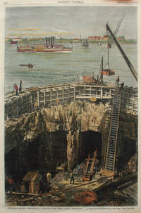 Submarine Mining Operations at Hallet's Point (Hell Gate), a full page spread from Harper's Weekly