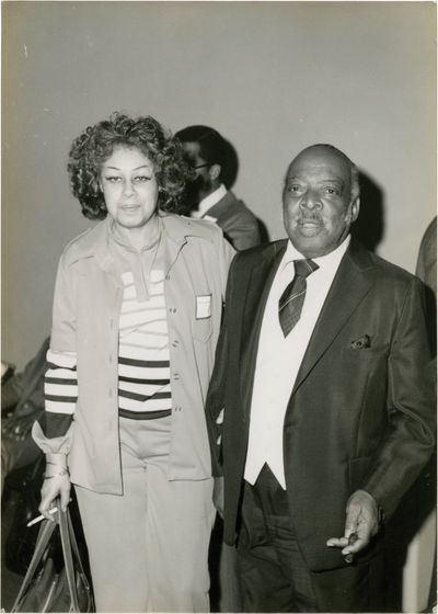 N.p.: N.p., 1970. Vintage candid vernacular photograph of Count Basie with his wife, circa 1970s. 5 ...