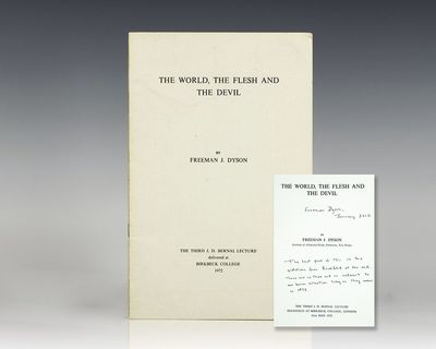 London: Birbeck College, 1972. First edition of this lecture given by Dyson at Birbeck College in Lo...