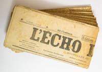 L'Echo de Paris, 12343-12371, 2-30 June 1918 (29 issues) by Henry Simond (ed), Paul Simond (ed) - 1918