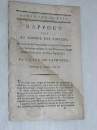 Rapport fait au Conseil des Anciens, au nom de la Commission chargée d'examiner la...