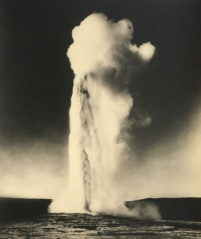 Yellowstone Park, WY: Haynes, 1913. Large silver gelatin photograph on a white heavy stock 'Haynes, ...