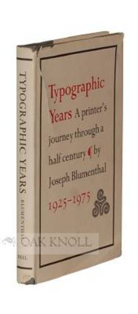 image of TYPOGRAPHIC YEARS, A PRINTER'S JOURNEY THROUGH A HALF-CENTURY
