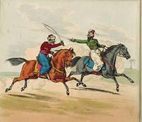 Dueling Arab Horsemen by  Henry  (1785 - 1851 Alken - from Alan Wofsy Fine Arts and Biblio.co.uk