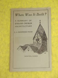 When Was It Built? A Summary of English Church Architecture