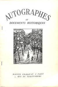 Bulletin Supplémentaire no.12/1954 : Autographes et Documents Historiques