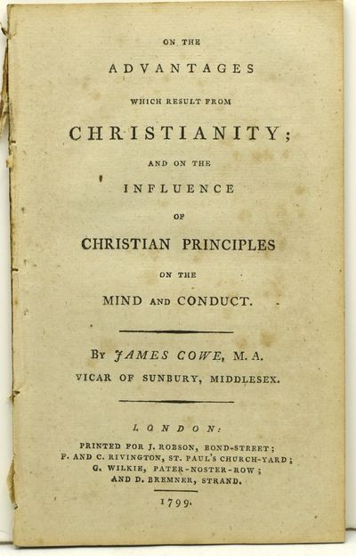 London: J. Robson; P. and C. Rivington; et al., 1799. First Edition. Disbound. A discourse derived f...