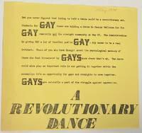 image of A Revolutionary Dance [handbill]