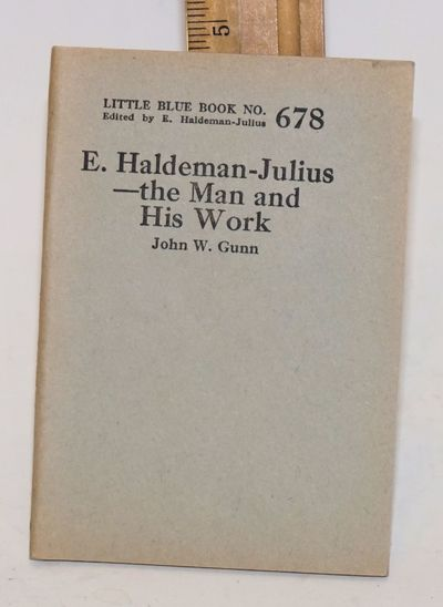 Girard: Haldeman-Julius Publications, 1924. 64p., 3.5x5 inch staplebound wraps, very good, several B...