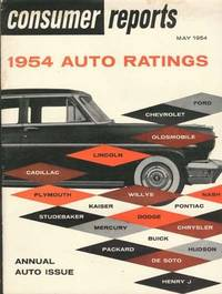 CONSUMER REPORTS: Five Auto Issues: May 1954 & January, March, May and July 1955