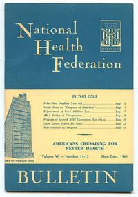 image of National Health Federation Bulletin Volume VII Number 11-12 (Nov.-Dec., 1961)