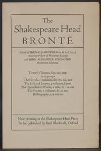 image of Prospectus] THE SHAKESPEARE HEAD [PRESS] BRONTE