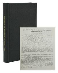 Die Vollständigkeit der Axiome des logischen Funktionenkalküls [in] Monatsheften für Mathematik und Physik, XXVII Band
